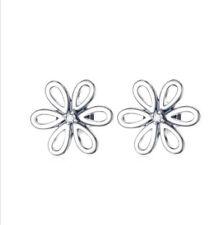 Ohrstecker Ohrring Blume 9 mm Blümchen Blüte Sterling Silber 925