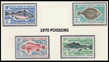 SAINT PIERRE ET MIQUELON N°421/424** Poissons, TB, SPM 1972 Fisch Sc#419-422 MNH