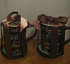 Signature Housewares Coffee Mug and Coaster Sets New