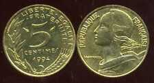 5 centimes 1994  dauphin  MARIANNE  SUP +