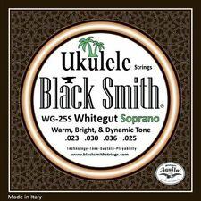 Soprano Ukulele Strings BlackSmith WG25S Whitegut High G Set