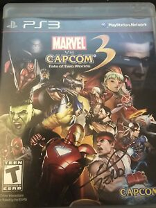 Marvel vs Capcom 3 Fate Of Two Wolds Autographed By Johnny Yong Bosch PS3