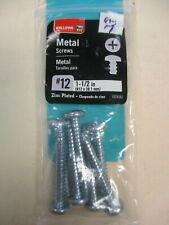 "Bulldog Hardware 1924561 New Metal Screws (#12 (1-1/2"") Zinc Plated lot of 7"