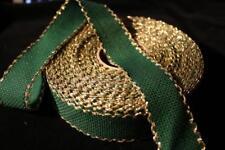 Aida Stickband, grün. m. goldenen Lurexfaden, ca. 3 cm breit