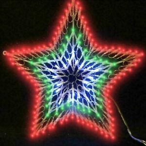 Window Flashing 100 LED Star Light Silhouette Christmas Home Decoration Lights