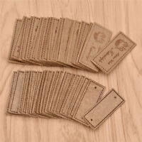 20Pcs PU Leather Labels Handmade Tags for Clothes Garment DIY Sewing Accessories