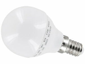LED Mini Globe Bulb P45 E14 6W=40W 475lm 200° Flicker-Free - Daylight White