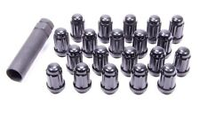"Gorilla 21183BC Acorn Black Chrome 1/2-20"" Closed End Lug Nuts w/60 Degree Seat"