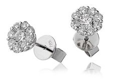 18ct white gold 0.75ct FVS diamond stud earrings ILLUSION CLUSTER GOY217