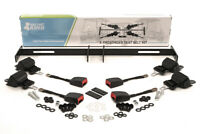 Golf Cart Retractable Seat Belt Kit with Bracket/Bar for Club Car, Yamaha, EZGO