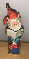 VTG 1986 Enesco The North Pole Village Elf Figurine SCOOPER Reading News EUC