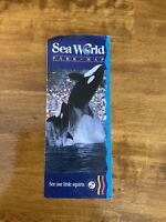 1989 Sea World Park Map Orlando, Fl