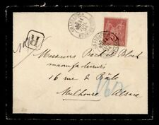 DR WHO 1894 FRANCE CHATEAUDUN REGISTERED MOURNING COVER TO MULHOUSE  g41179