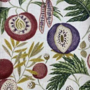 Sanderson Jackfruit Fig/ Olive Curtain Fabric, Material 100% Cotton, 139cm width