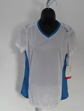 NWT SAUCONY white blue P.E. S/S running shirt light cool dry L