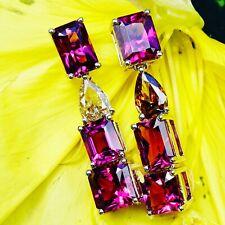 Purple Granat Diamant Ohrhaenger in 750er Weißgold Mega Kracher soo schön