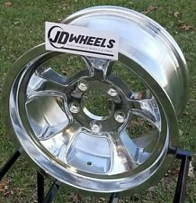 "JD Wheels 15x8 Halibrand Replica 612 5x5 (4.25"" bs) GM Chevy Hot Rod Gasser"