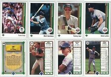 1989 Upper Deck Twins Baseball Cards - Viola #658 Davidson #577 Herr #558 Larkin