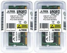 A-Tech 2GB 2x 1GB PC2-5300 Laptop SODIMM DDR2 667 MHz 200pin Memory RAM 5300S 2G