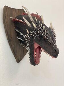 Faux Taxidermy Dragon Head , Wall Mount