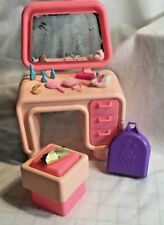 Mattel Barbie Original Dream Furniture Collection Vanity & Seat w/ Accessories