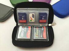 SD SDHC CF Micro SD travel case protection memory card holder wallet in Blue