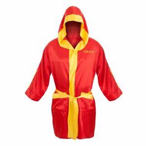 Adult Movie Rocky Balboa Red Ivan Drago Satin Boxing Robe & Shorts Costume Set