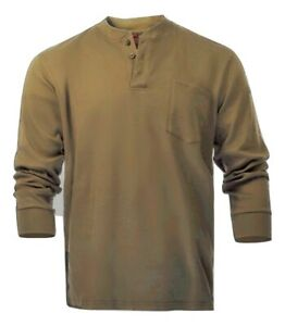 Flame Resistant FR Henley Style T shirt