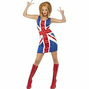 Ginger Power, 1990s Icon Costume, Red & Blue, with Union Jack Dress.. COST-W NEW