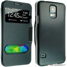 Para Samsung Galaxy S4 I9600 Cuero Funda Protectora Tipo Cartera Flip posterior Bolsa g900f