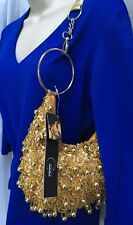 Nwt Candice Of Los Angeles Gold Beaded Fashion Evening Formal Bag