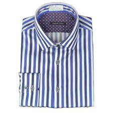 Camicie classiche da uomo blu in cotone XXXL