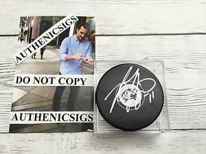 Nick Foligno Signed Columbus Blue Jackets Hockey Puck Autographed PROOF d