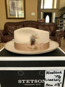 """STETSON """"WINDSOR"""" SILVERBELLY 7 5/8 GREAT FEDORA!"""