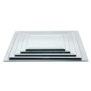 Rectangular Beveled Edge Mirror Glass Base Centerpiece