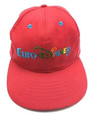 EURO DISNEY vintage red adjustable cap / hat - 100% cotton