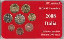 """MDS ITALIEN EURO-KMS 2008 """"MÜNZMESSE VERONA"""" AUFLAGE NUR 300 STÜCK"""