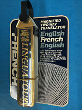 Linguatour French English Pocket Travel Dictionary Flip Book Two-Way Translator