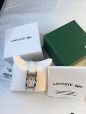 NIB! Lacoste Inspiration Leather - White Women's watch 2000684
