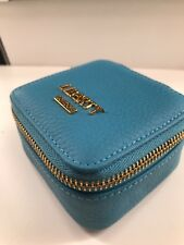 Liberty London Aqua Blue Makeup bag Jewelery bag with mirror New