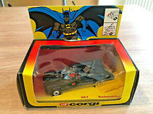 CORGI 267 Batmobile - 1981, excellent in original window box with rare header.