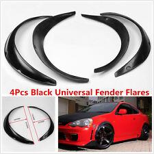 Universal Black Fender Flares 4Pcs Flexible Durable Body Fender Polyurethane Kit