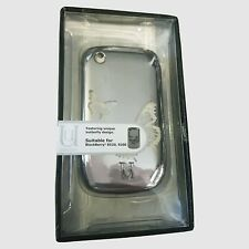 Aegis Uunique Shell Case for Blackberry Curve  8520 9300 - Silver Butterfly