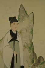 Hanging Scroll Japanese Painting Dragon Philosopher Asian art Japan Picture w23