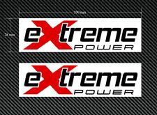 2 X Extreme Power Stickers/Decals Rouge & Noir sur un fond blanc-EURO DUB