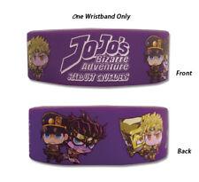 **Legit** JoJo's Bizarre Adventure Jotaro & Dio Authentic PVC Wristband #54318