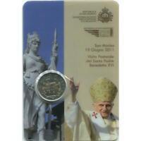 2 euro San Marino 2011 Visita Papa