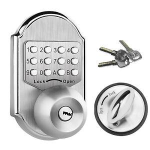 Keyless Mechanical Door Lock Digital Code Entry Combination Security Deadbolt