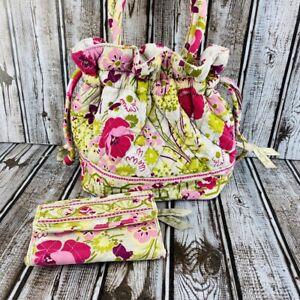 Vera Bradley Make Me BlushGlenna Satchel Drawstring Hand Bag Wallet Purse