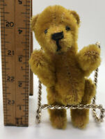 Vintage Antique Miniature Jointed Mohair Teddy Bear Steiff or Schuco